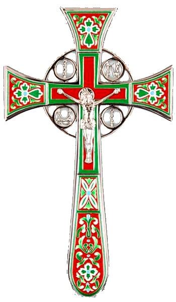 Крест напрестольный №4-1 (красно-зелёный)