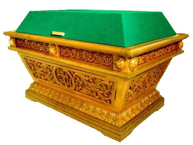 Гробница под плащаницу с тканевым верхом (4-х стороняя резьба)