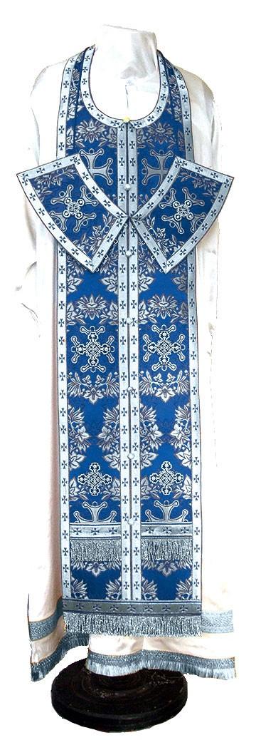 Требный комплект из парчи ПГ5 (синий/серебро)