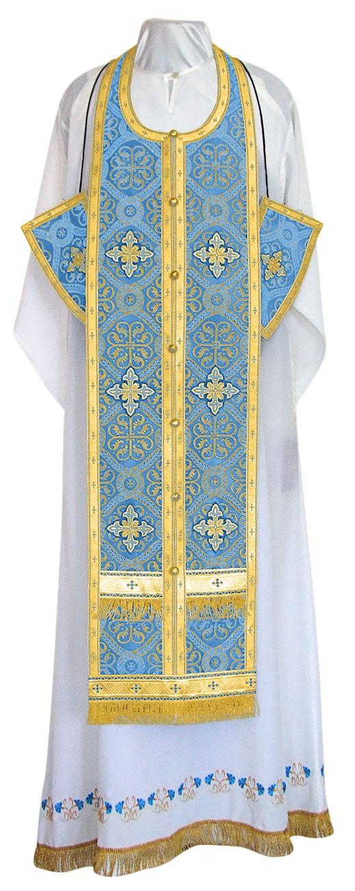 Требный комплект из шёлка Ш4 (синий/золото)