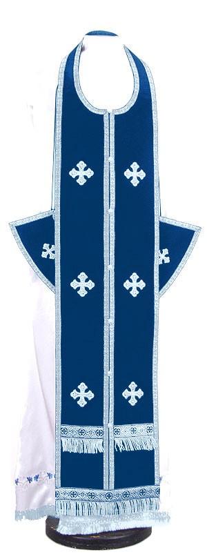 Требный комплект из нем. бархата (синий/серебро)