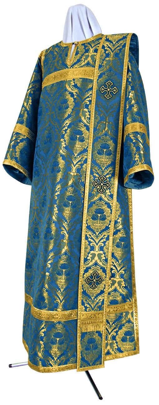 Дьяконское облачение из парчи ПГ5 (синий/золото)