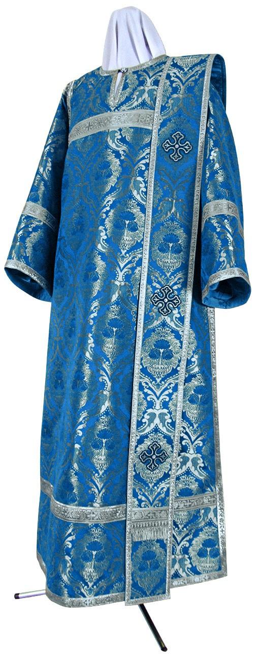Дьяконское облачение из парчи ПГ6 (синий/серебро)