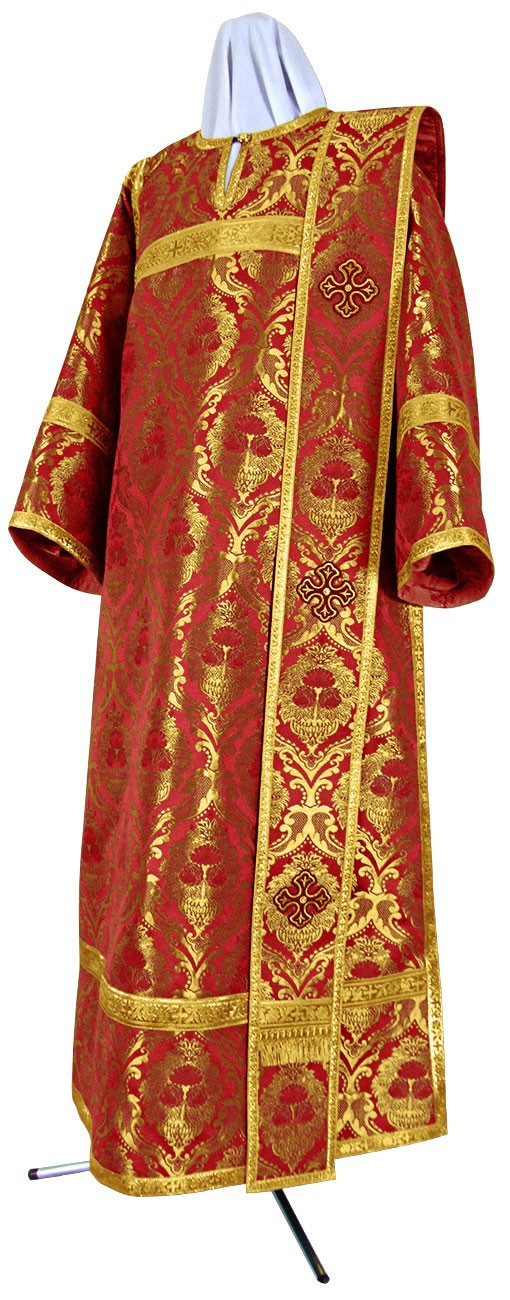 Дьяконское облачение из парчи ПГ5 (красный/золото)