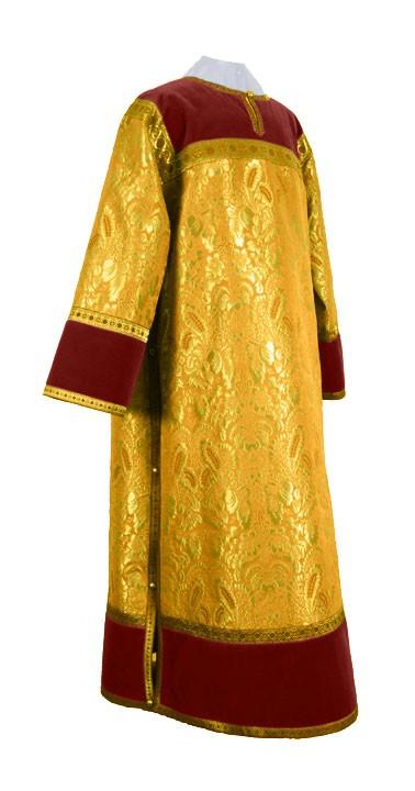 Стихарь клирика из парчи ПГ5 (жёлтый-бордо/золото)