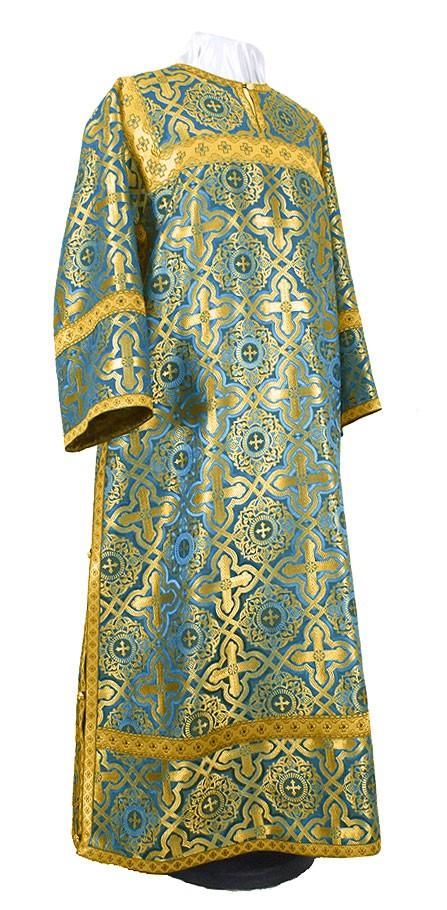 Стихарь клирика из шёлка Ш2 (синий/золото)