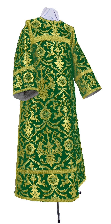 Стихарь клирика из шёлка Ш4 (зелёный/золото)