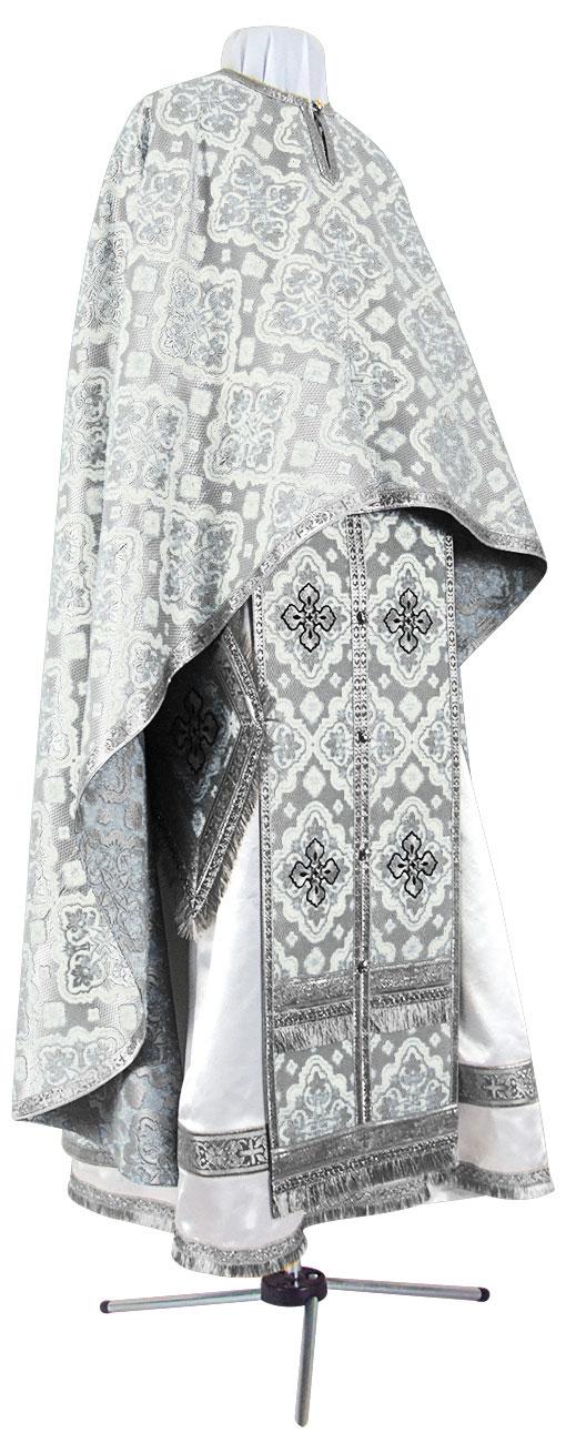 Греческое иерейское облачение из шёлка Ш2 (белый/серебро)