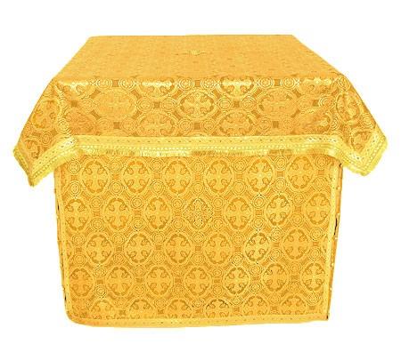 Облачение на престол из парчи ПГ4 (жёлтый/золото)