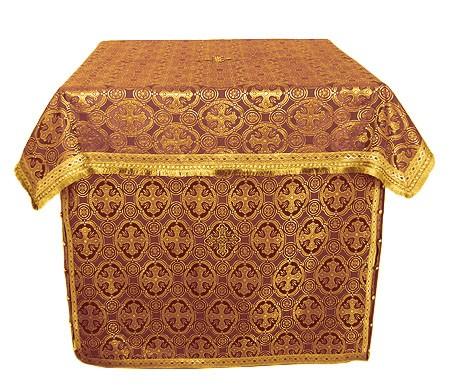 Облачение на жертвенник из парчи ПГ6 (бордовый/золото)