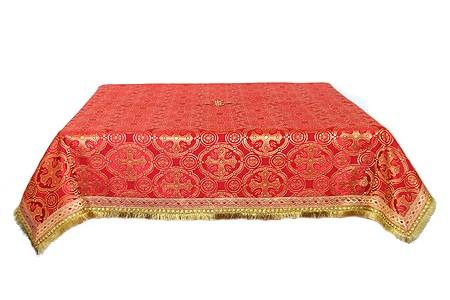 Пелена на престол/жертвенник из шёлка Ш2 (красный/золото)