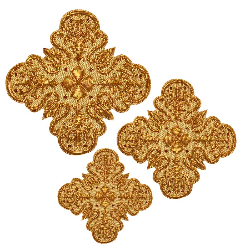 Кресты ручной вышивки №Д122