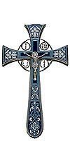 Крест напрестольный №4-1 (тёмно-синий)