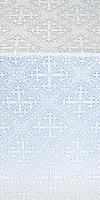 """Шелк """"Солунь"""" (белый/серебро)"""