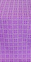 """Парча """"Каменный цветок"""" (фиолетовая/серебро)"""