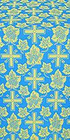 """Парча """"Ажурный крест"""" (синяя/золото)"""
