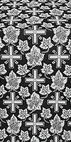 """Парча """"Ажурный крест"""" (чёрная/серебро)"""