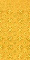 """Парча """"Альфа и Омега"""" (жёлтая/золото)"""