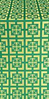 """Шёлк """"Каппадокия"""" (зелёный/золото)"""