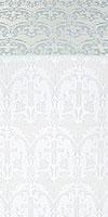 """Шёлк """"Виноград"""" (белый/серебро)"""
