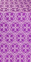 """Шёлк """"Пасхальный крест"""" (фиолетовый/серебро)"""