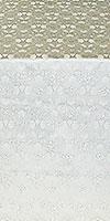 """Парча """"Голубь"""" (белая/серебро)"""