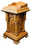 Столик для пожертвований с отделениями для свечей