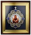 """Икона настенная в серебре с образом Богородицы """"Покров"""""""