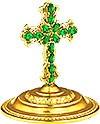 Крест на митру ювелирный - A678 (золочение)