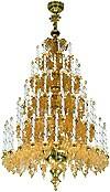 Пятиярусное церковное паникадило - 1 (79 свечей)