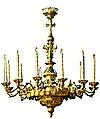 Одноярусное церковное паникадило - 1 (12 свечей)