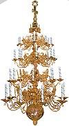 Четырёхъярусное церковное паникадило - 1 (32 свечи)