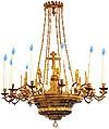 Одноярусное церковное паникадило - 9 (12 свечей)