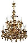 Двухъярусное церковное паникадило - 1 (24 свечи)
