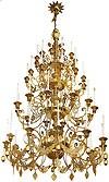 Четырёхъярусное церковное паникадило - 3 (48 свечей)
