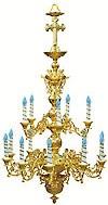 Двухъярусное церковное паникадило - 3 (15 свечей)