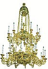 Двухъярусное церковное паникадило - 10 (32 свечи)