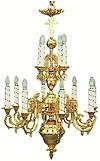 Двухъярусное церковное паникадило - 2 (12 свечей)