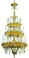 Трёхъярусное церковное паникадило - 7 (42 свечи)