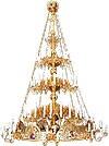 Трёхъярусное византийское паникадило с хоросом - 88 свечей
