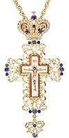 Крест наперсный №152 синий