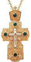 Крест наперсный с украшениями №002