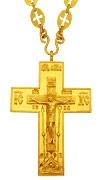 Крест наперсный протоиерейский № 45 кабинетный с цепью