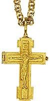 Крест-мощевик напесрный с цепью - А213