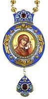 Панагия серебряная № 2 с образом Казанской иконы Божией Матери