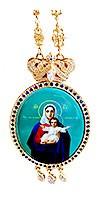 Панагия архиерейская - 2 (синяя эмаль)