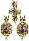Набор для архиерея (крест и панагия) - 12