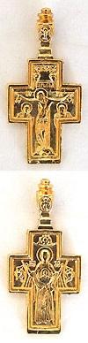 Православный нательный крест №182 (Знамение)