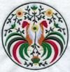 Медальон с петухами