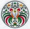 Медальон с петухами-2